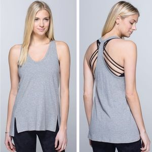 EUC Lululemon Mountain Tank Heathered Medium Grey